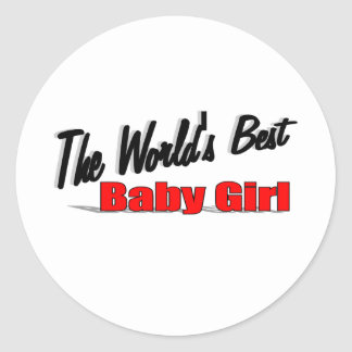 The World's Best Baby Girl Classic Round Sticker