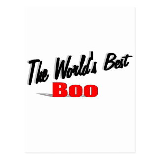 The World's Best Boo Postcard