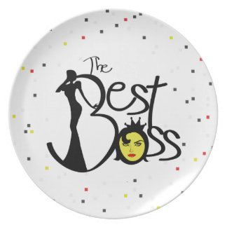 The World's Best Boss lady plates