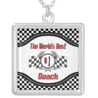 The World's Best Coach - Number One Silver Plated Necklace