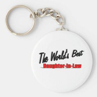 The World's Best Daughter-In-Law Keychain