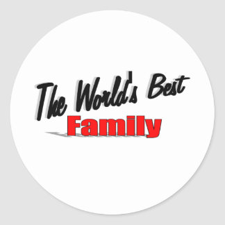 The World's Best Family Classic Round Sticker