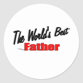 The World's Best Father Classic Round Sticker