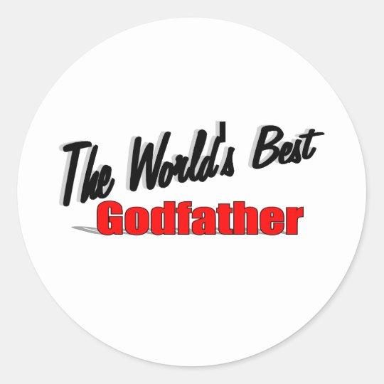 The World's Best Godfather Classic Round Sticker