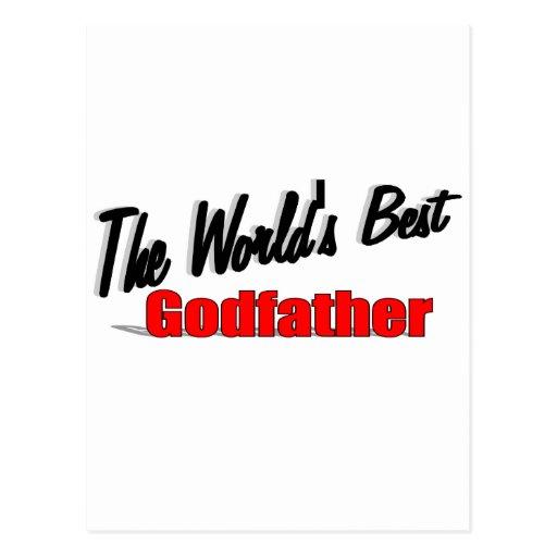 The World's Best Godfather Postcard