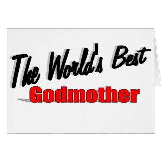 The World's Best Godmother Card