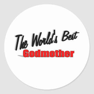 The World's Best Godmother Classic Round Sticker
