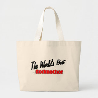 The World's Best Godmother Large Tote Bag