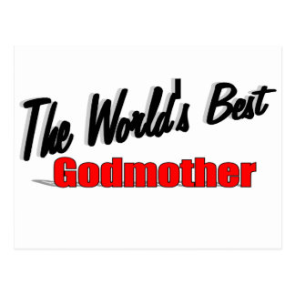 The World's Best Godmother Postcard