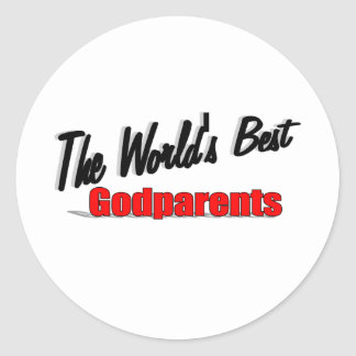 The World's Best Godparents Classic Round Sticker