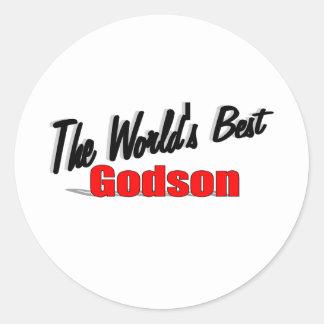 The World's Best Godson Classic Round Sticker