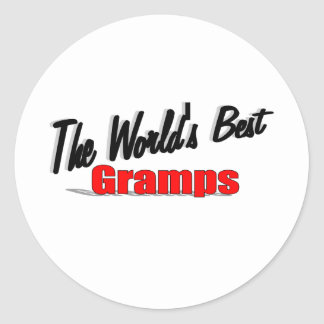 The World's Best Gramps Classic Round Sticker