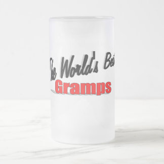 The World's Best Gramps Frosted Glass Beer Mug