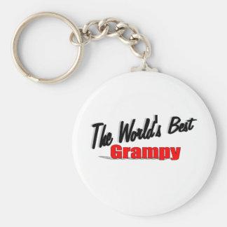 The World's Best Grampy Basic Round Button Keychain