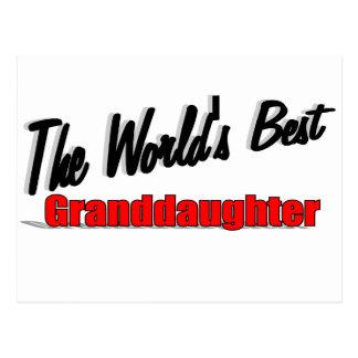 The World's Best Granddaughter Postcard