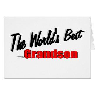 The World's Best Grandson Card