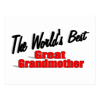 The World's Best Great Grandmother Postcard