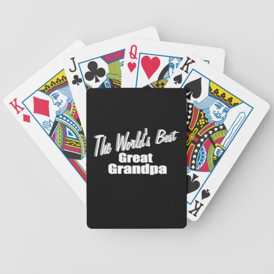 The World's Best Great Grandpa Bicycle Playing Cards