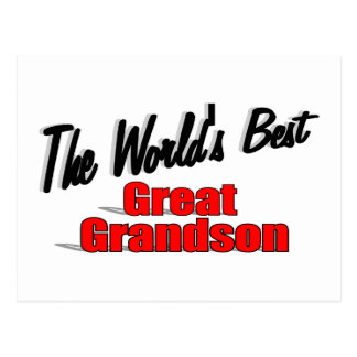 The World's Best Great Grandson Postcard