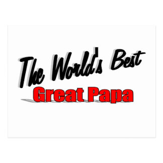The World's Best Great Papa Postcard