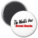 The World's Best Great Uncle 2 Inch Round Magnet