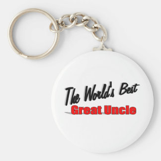 The World's Best Great Uncle Keychain