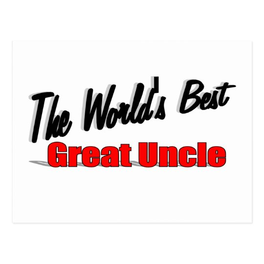 The World's Best Great Uncle Postcard