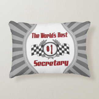 The World's Best Number One Secretary Accent Pillow