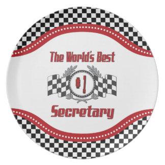 The World's Best Number One Secretary Dinner Plate