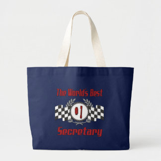 The World's Best Number One Secretary Large Tote Bag