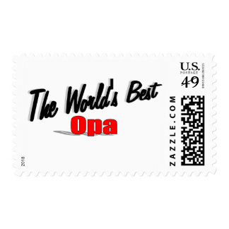 The World's Best Opa Stamps