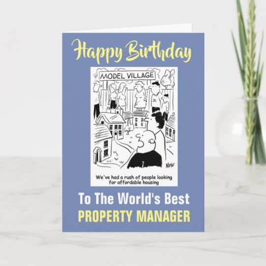 The World S Best Property Manager Happy Birthday Card