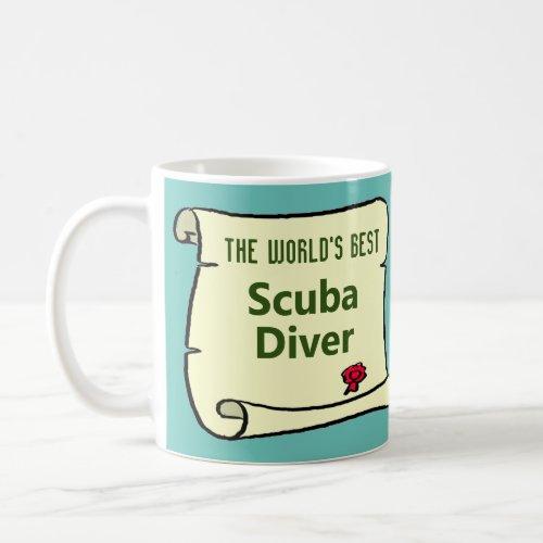 The Worlds Best Scuba Diver Coffee Mug