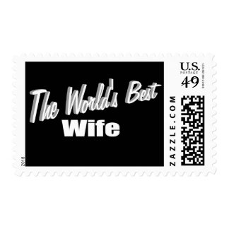 The World's Best Wife Postage Stamps