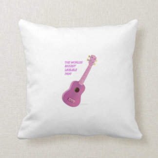 The Worlds Biggest Ukelele Fan Cusion Pillow