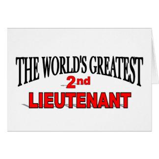 The World's Greatest 2nd Lieutenant Card
