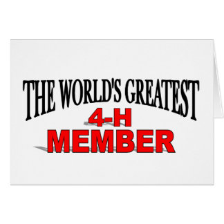 The World's Greatest 4-H Member Card