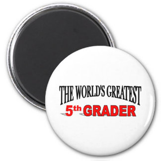 The World's Greatest 5th Grader 2 Inch Round Magnet