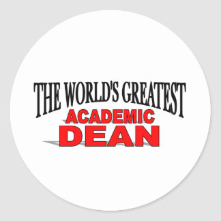 The World's Greatest Academic Dean Classic Round Sticker