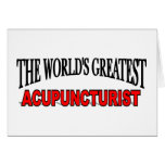 The World's Greatest Acupuncturist Cards