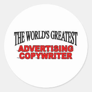 The World's Greatest Advertising Copywriter Classic Round Sticker