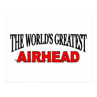 The World's Greatest Airhead Postcard