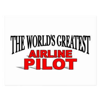 The World's Greatest Airline Pilot Postcards