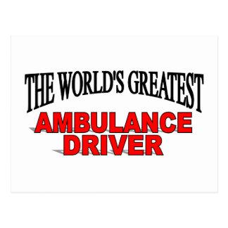 The World's Greatest Ambulance Driver Postcard