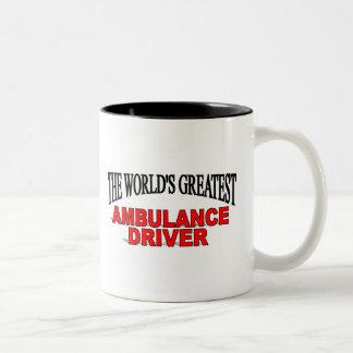 The World's Greatest Ambulance Driver Two-Tone Coffee Mug
