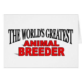 The World's Greatest Animal Breeder Card