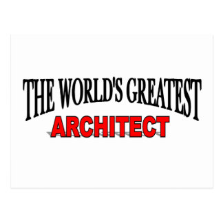 The World's Greatest Architect Postcard