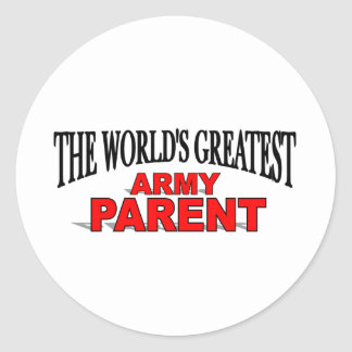 The World's Greatest Army Parent Classic Round Sticker