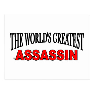 The World's Greatest Assassin Postcard