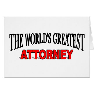 The World's Greatest Attorney Greeting Card